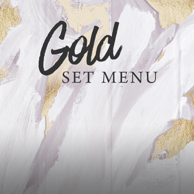 Gold set menu at The George