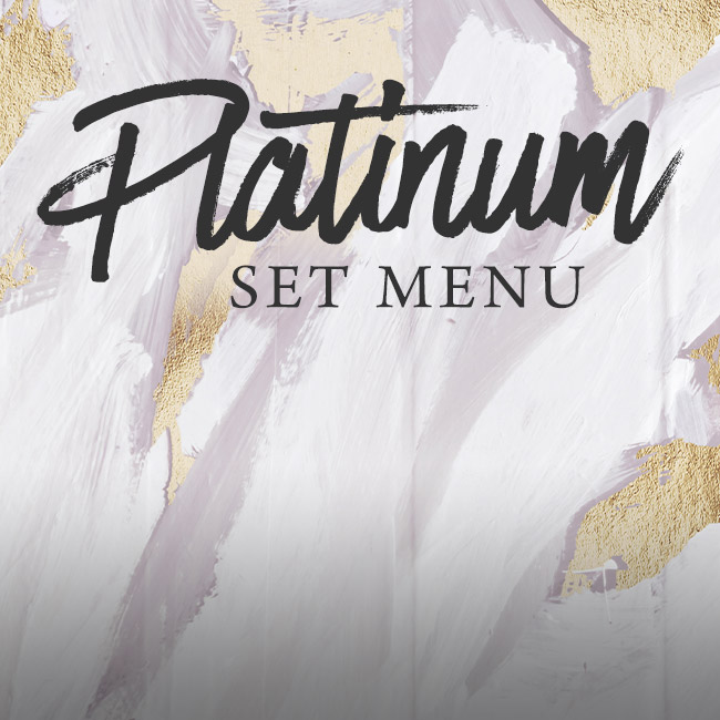 Platinum set menu at The George