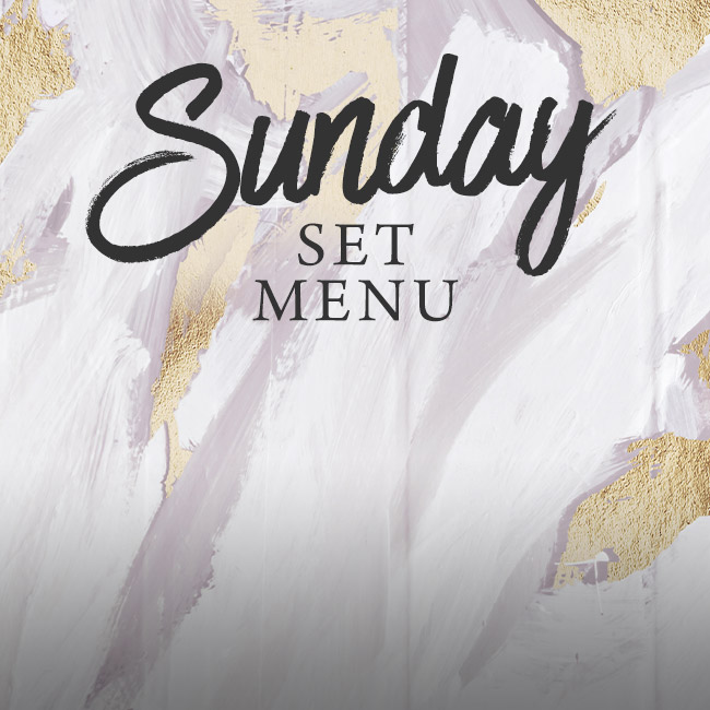 Sunday set menu at The George
